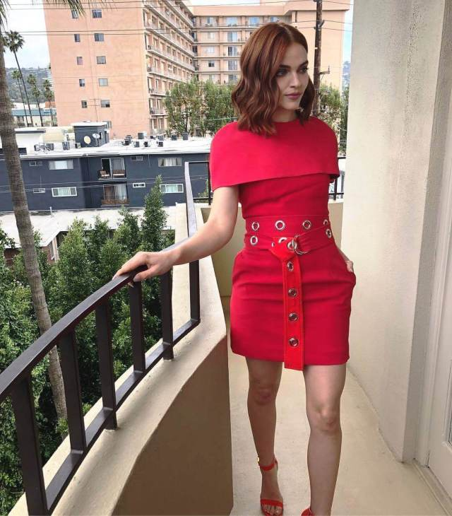 Madeline Brewer hot red look