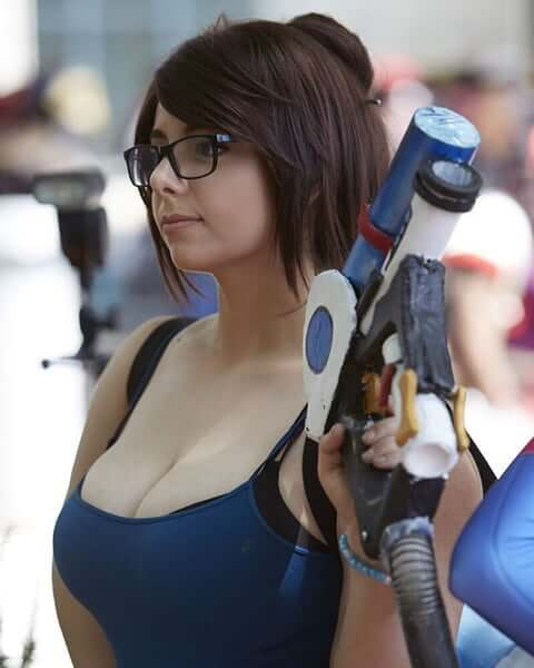 Mei Overwatch cleavages sexy