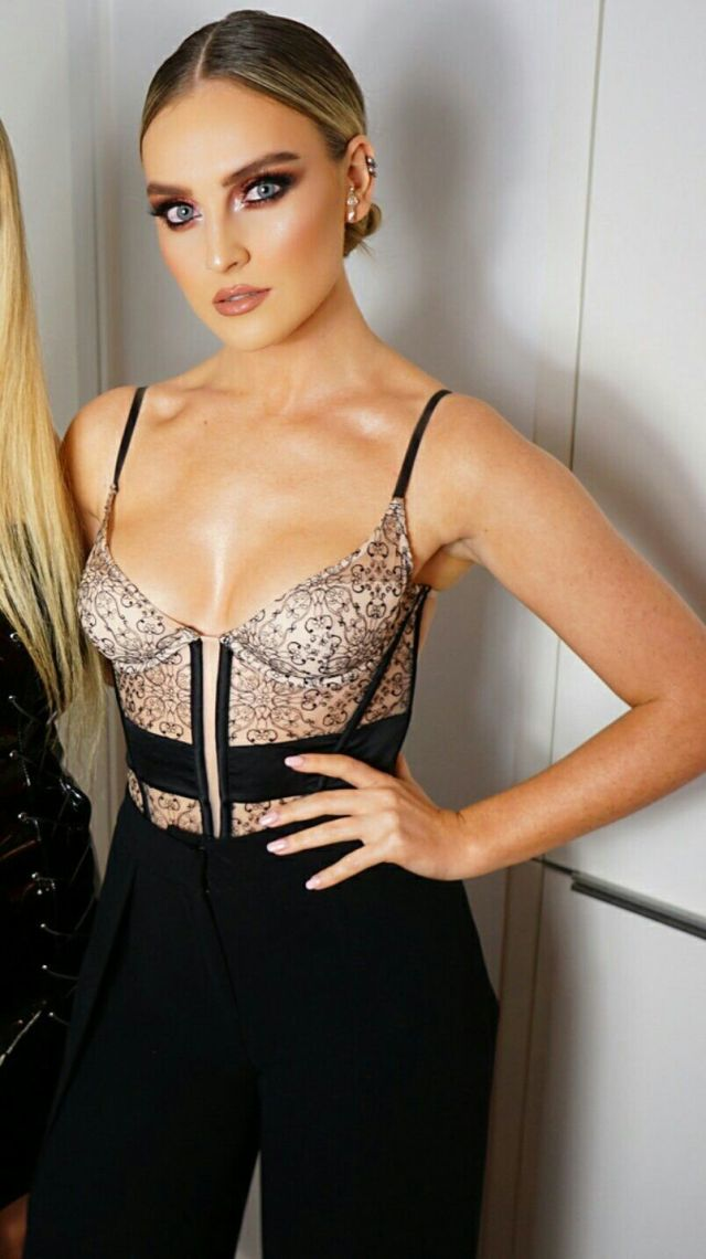 Perrie Edwards Sexy Boobs Pics on Beautifull Dress