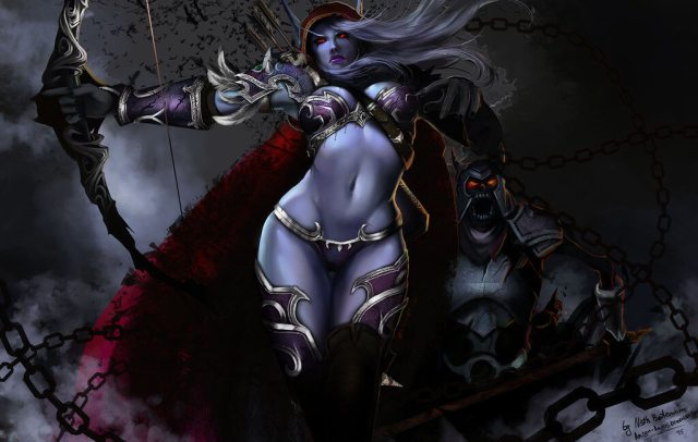 Sylvanas hot cleavages