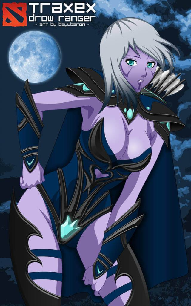 Traxex the Drow Ranger cleavage picture