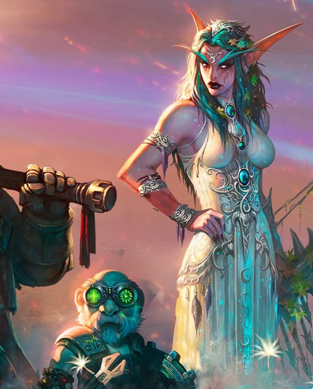 Tyrande awesome cleavages