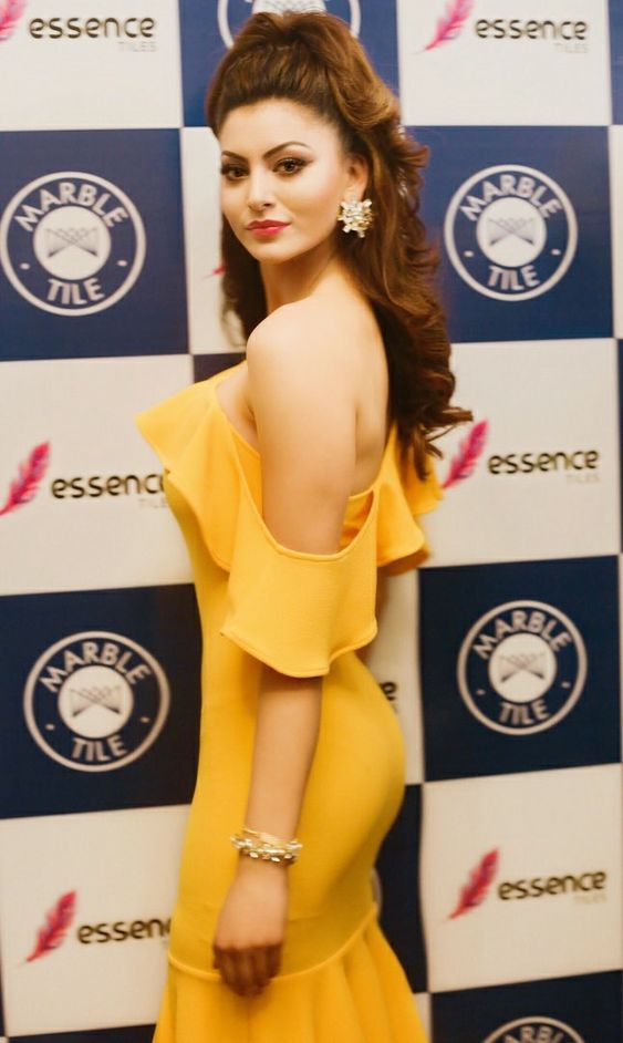 Urvashi Rautela Hot in Yellow