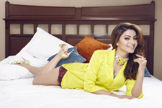 Urvashi Rautela on Bed