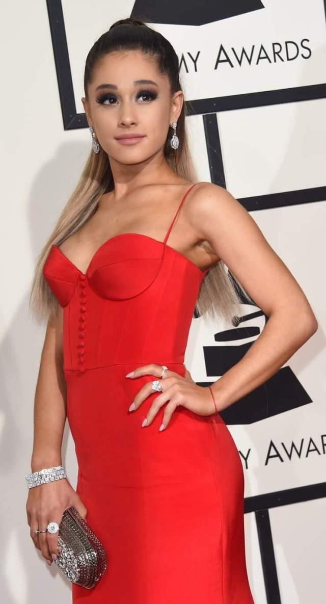 ariana grande red dress