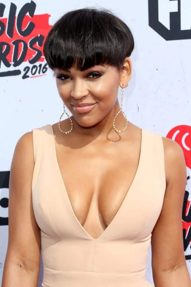 meagan good awesome cleavage