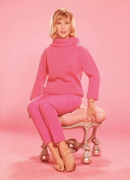 Barbara Eden PINK DRESS PIC