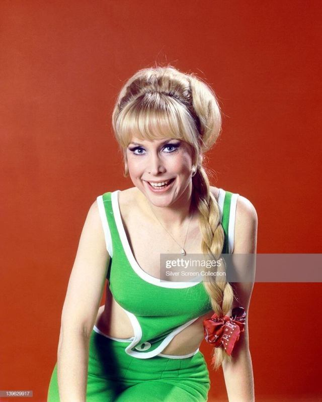 Barbara Eden SEXY GREEN DRESS