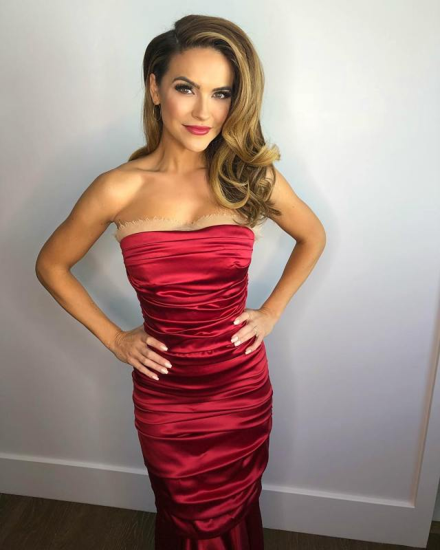 Chrishell Stause Hot in Red Dress