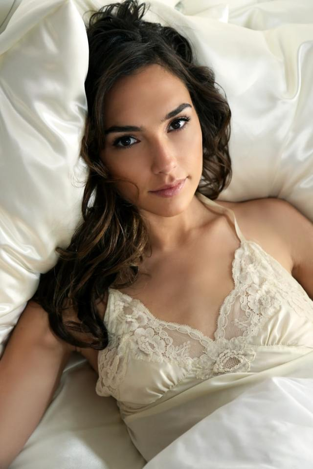Gal Gadot on Bed