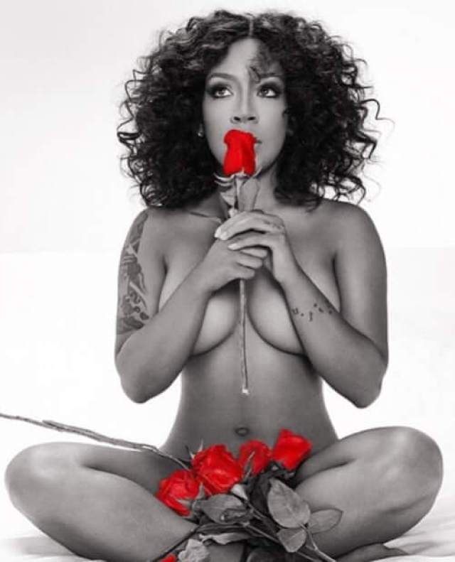 K. Michelle sexy topless pic