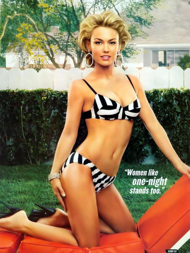 Kelly Carlson Hot in Black Bikini