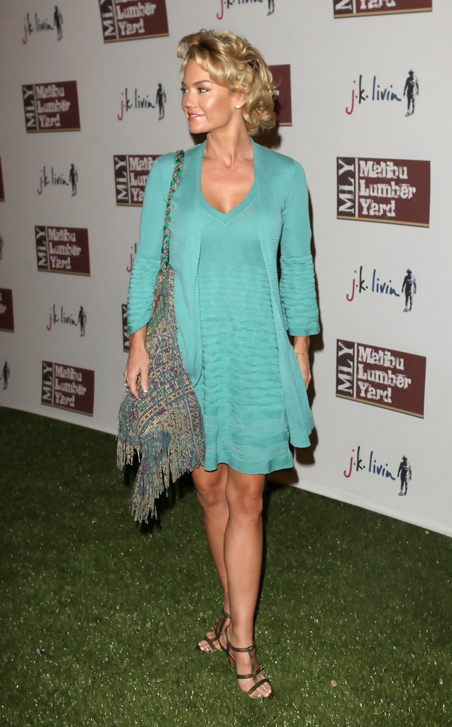 Kelly Carlson Hot in Blue Dress