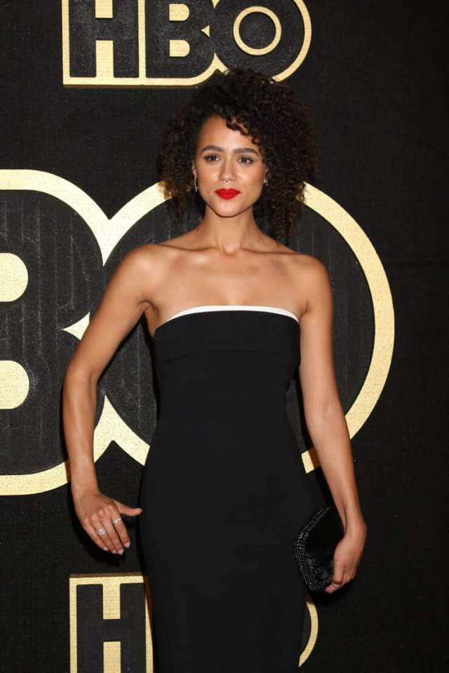 Nathalie Emmanuel sexy black dress