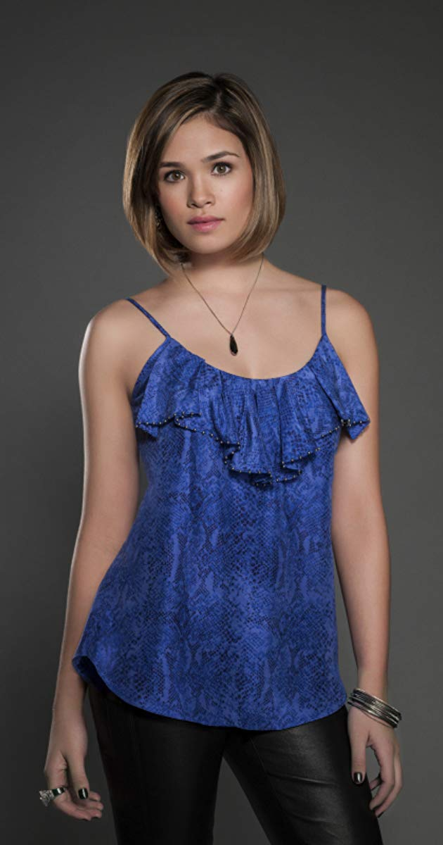 Nicole Gale Anderson sexy blue dress