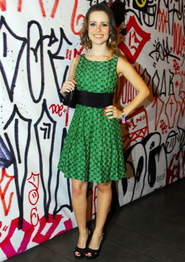 Sandy Leah Lima a.k.a Sandy SEXY GREEN DRESS
