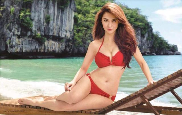 marian rivera red bikini