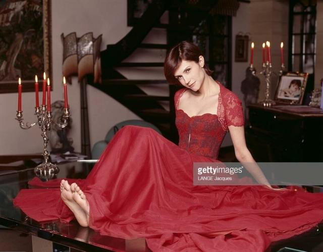 Alessandra Martines long red dress pic