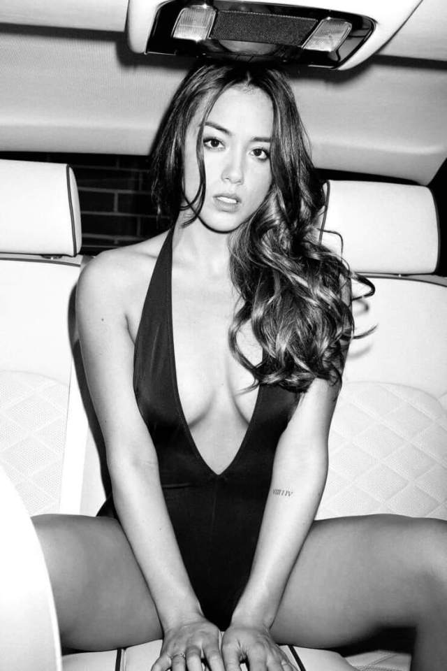 Chloe Bennet hot cleavage picture