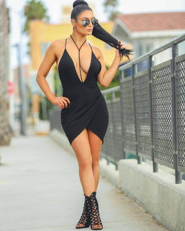 Eva Marie sexy cleavage sexy