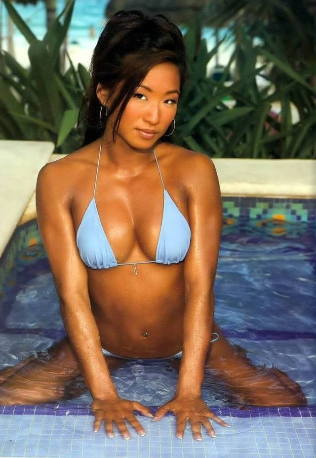 Gail Kim sexy wet look