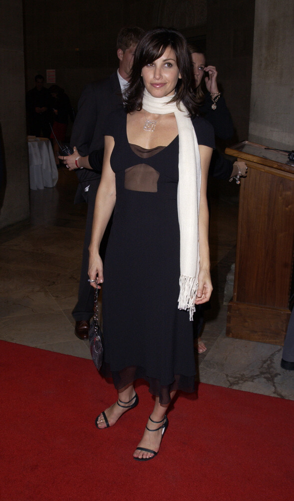 Gina Gershon hot long black dress pic