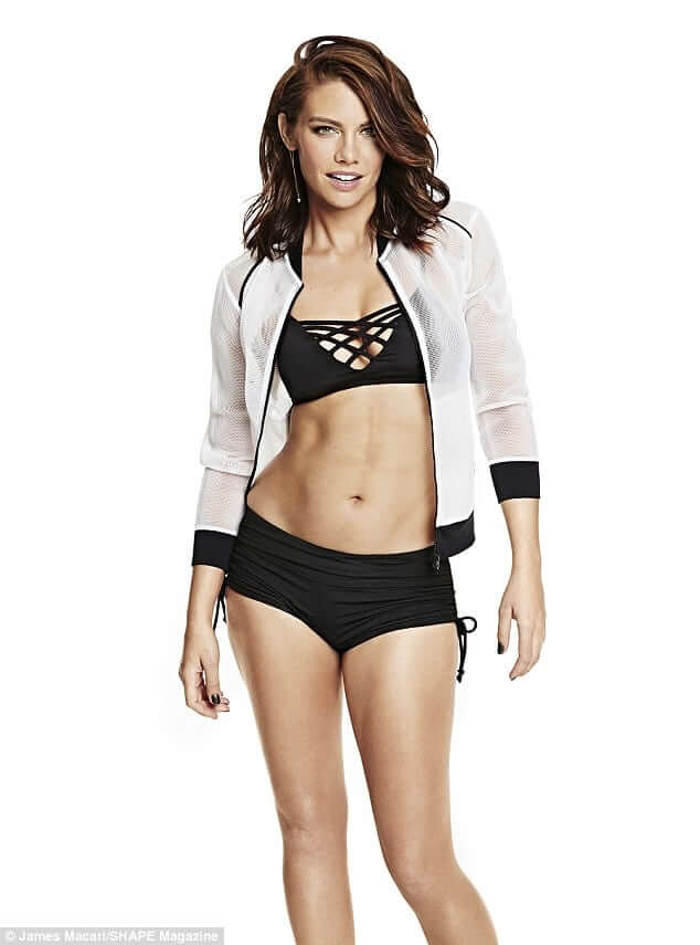 Lauren-Cohan-Hot-in-Black-Bikini