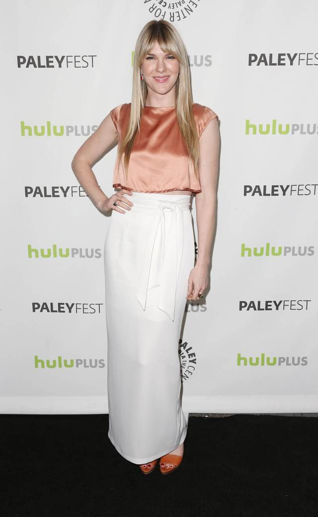 Lily Rabe long dress look