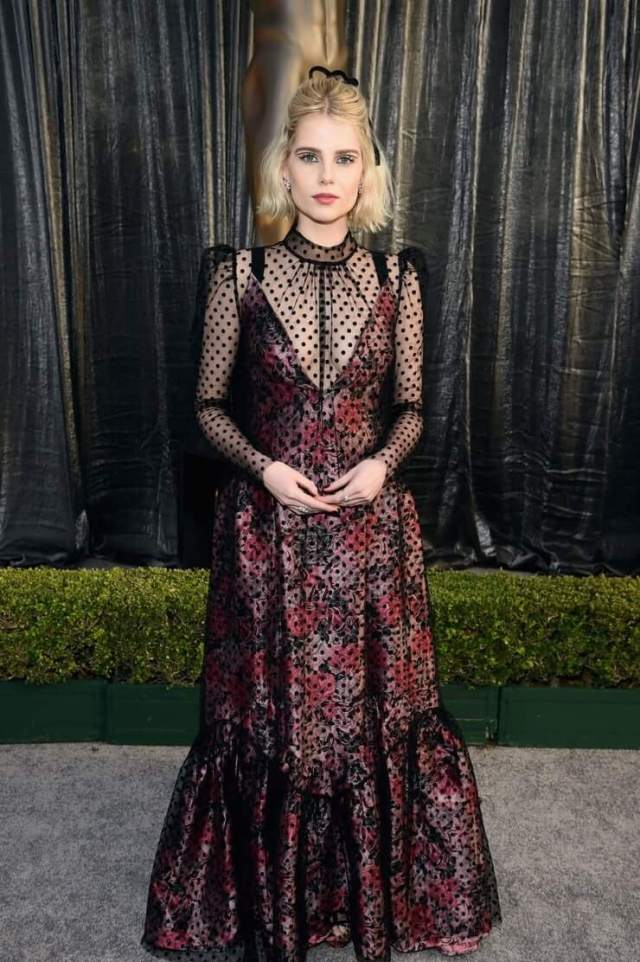 Lucy Boynton hot cleavage pictures