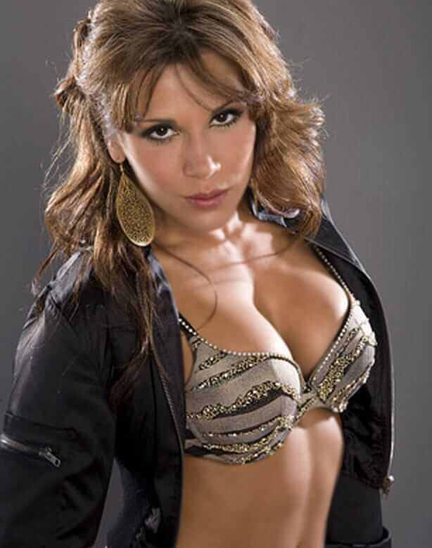 Mickie James sexy cleavage pic