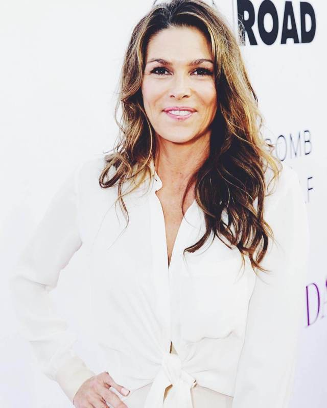 Paige Turco hot white dress pic