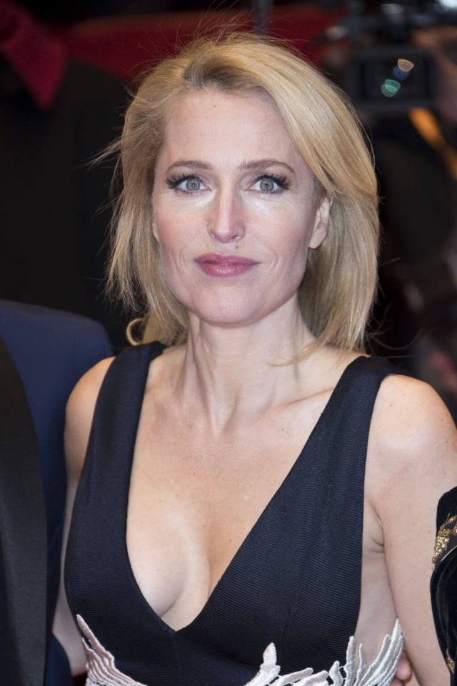 Gillian Anderson hot cleavage pics (2)