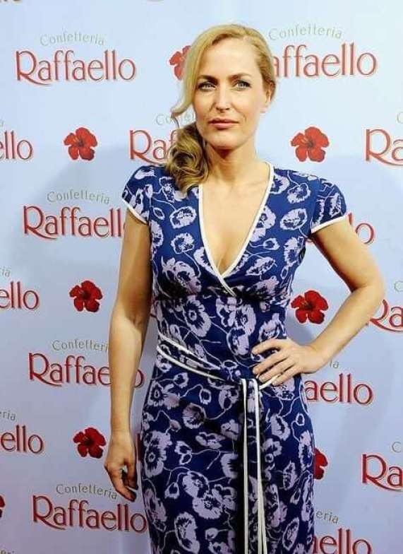 Gillian Anderson hot cleavage pictures (2)
