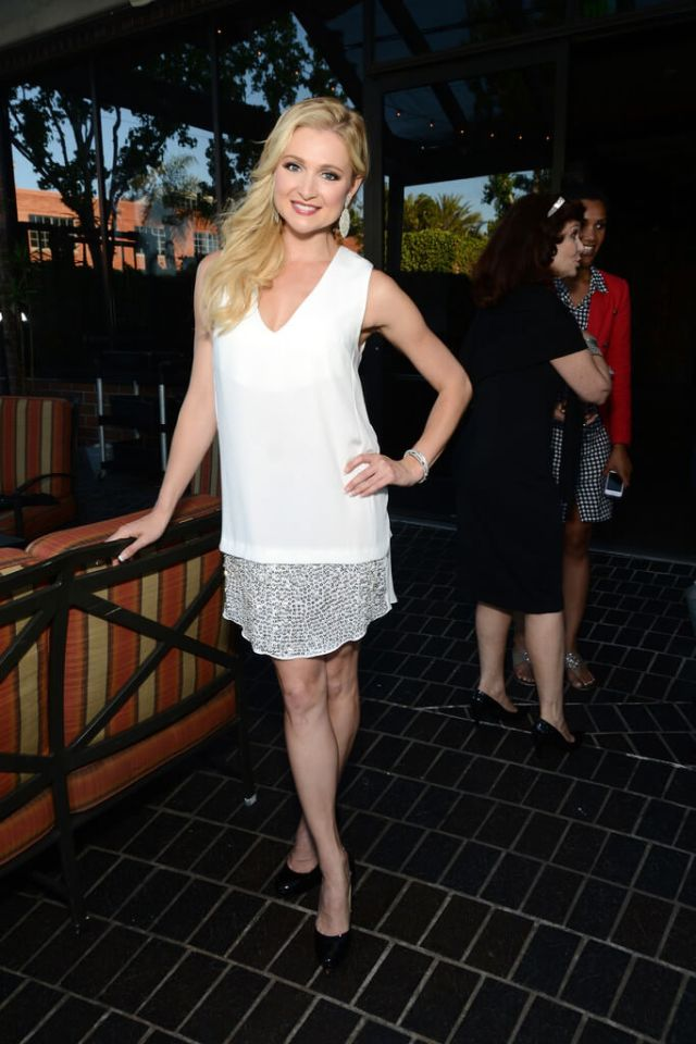 Katherine Bailess hot white dress