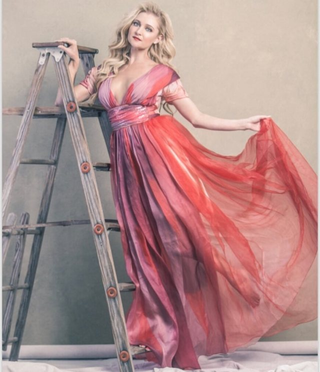 Katherine Bailess sexy long dress pic