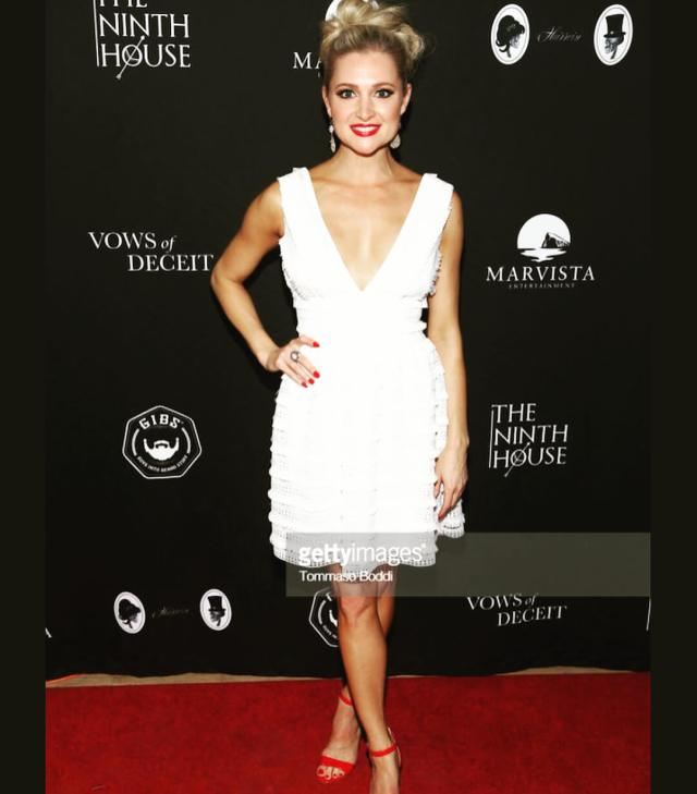 Katherine Bailess sexy white dress pic