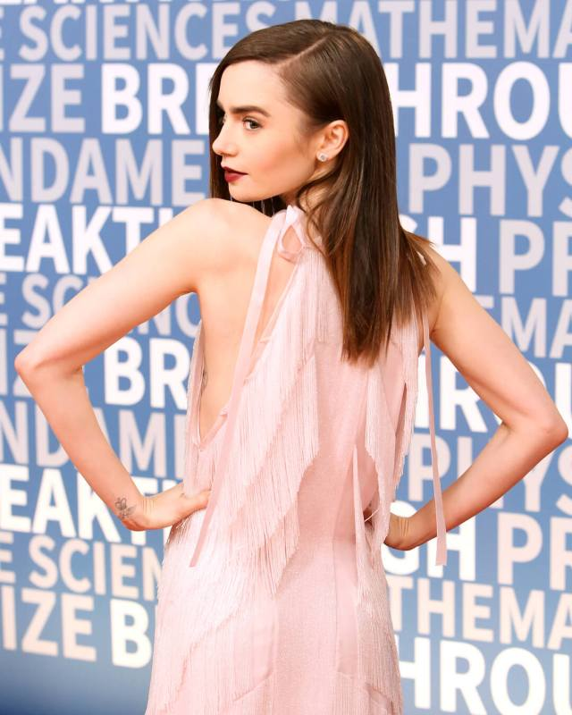 Lily Collins sexy ass picture