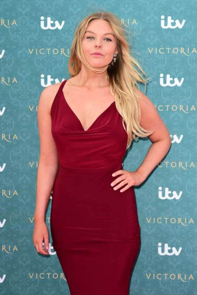 Nell Hudson sexy red dress