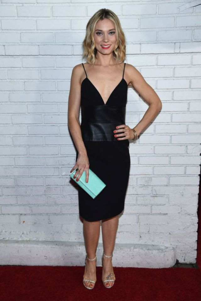 Spencer Grammer sexy black dress