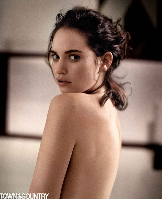 lily james backless