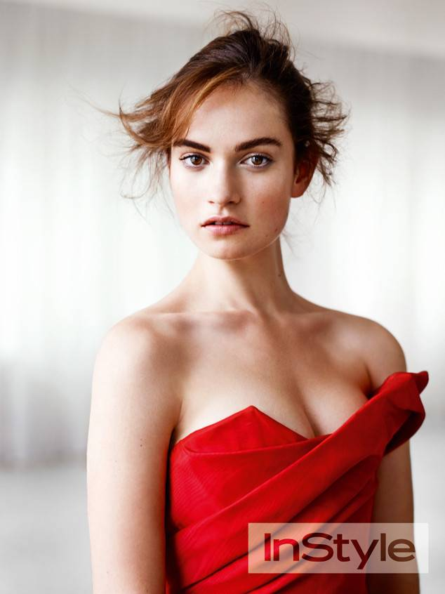 lily james cleavage