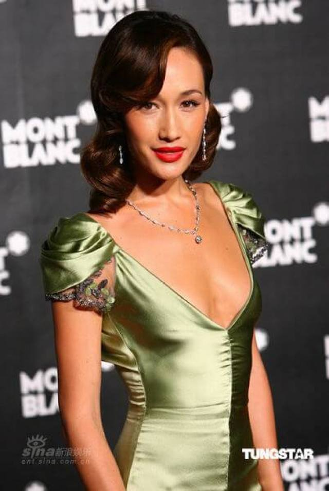 Maggie Q sexy cleavage pictures (3)