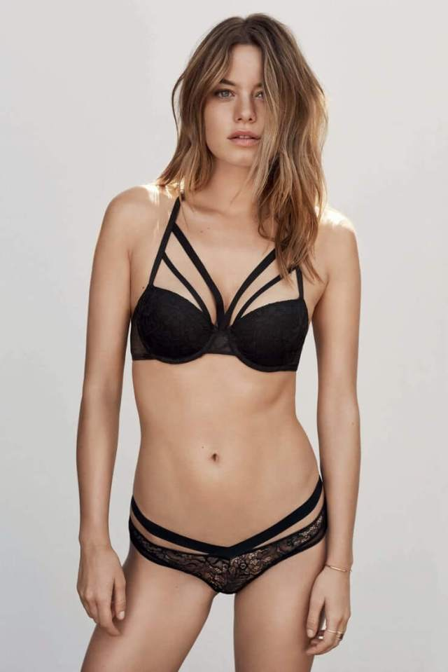 Camille Rowe lingerie