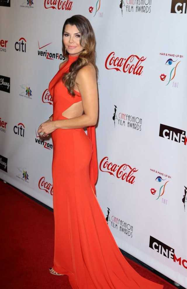 Ali Landry hot red dress pictures