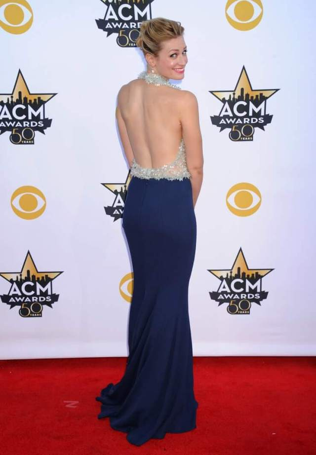 Beth Behrs backless