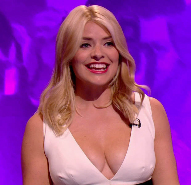 Holly Willoughby sexy cleavage pics