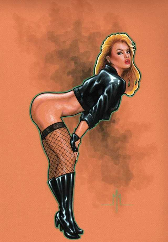 Black Canary side booty pics