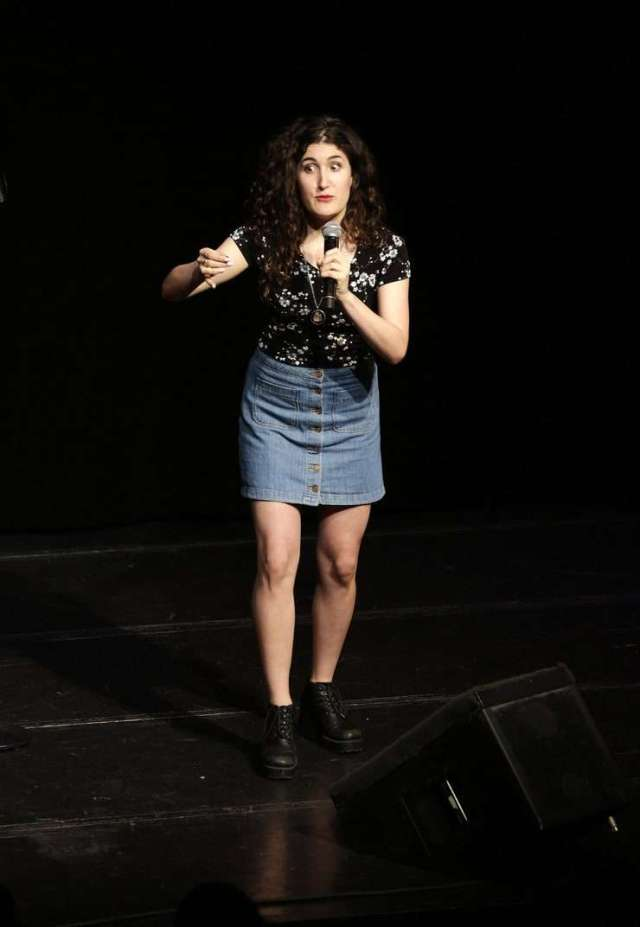 kate berlant on the mic