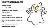 you ve been booed halloween poem