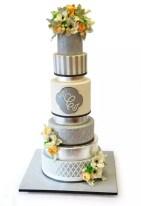 NJ Weddings-Pink Cake Box-Silver Cake